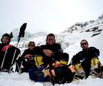 Expeditia Annapurna din 2008 (fata sudica). De la stanga la dreapta: Alexei Bolotov (Rusia), Don Bowie (SUA), Iñaki Ochoa de Olza (Spania), Horia Colibasanu (Romania).