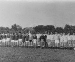 1950: echipele din Jimbolia și Comloș (în alb)