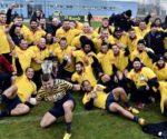 Campionii de la Timișoara Saracens au cucerit ultimul trofeu pus în joc în campionatul Superligii, în ediția 2015, tocmai în finala de la Baia Mare